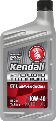 Kendall GT-1 High Performance Motor Oil with Liquid Titanium